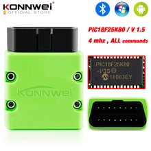KONNWEI ELM327 V 1,5 OBD2 Scanner KW902 Bluetooth Autoscanner PIC18f25k80 MINI ULME 327 OBDII KW902 Code Reader für Android-Handy