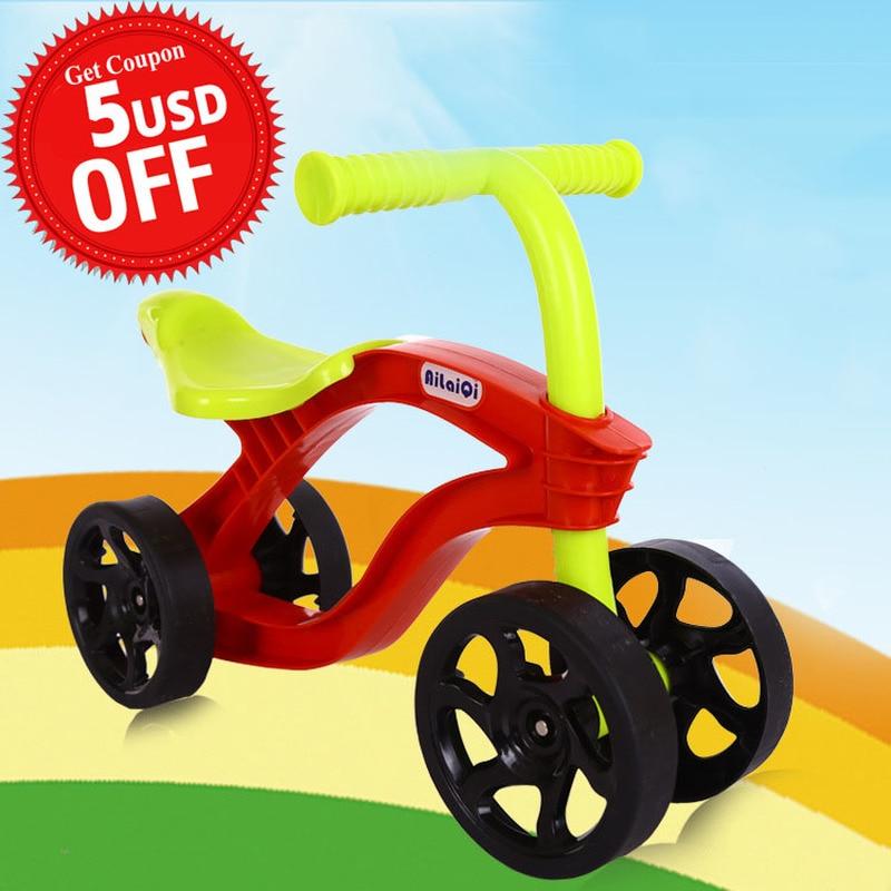 4 ruote per bambini Push Scooter Balance Bike Walker Infant Scooter bicicletta per bambini giro all'aperto su giocattoli auto resistente all'usura