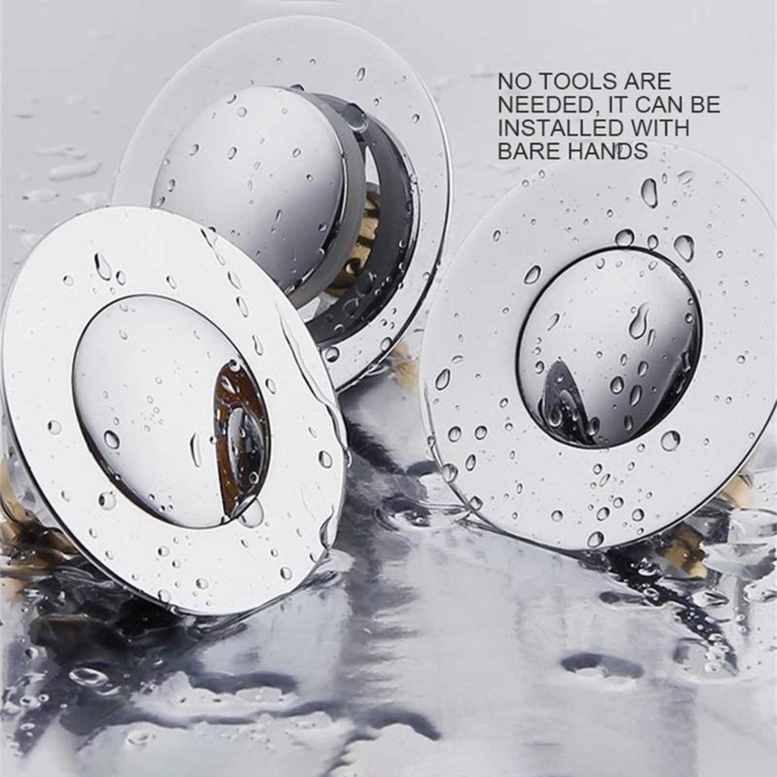 Universal Wash Basin Bounce Sink Drain Filter Vanity Stopper Up Drain Filter Bathroom Accessories Bathtub Plug Hair Catcher