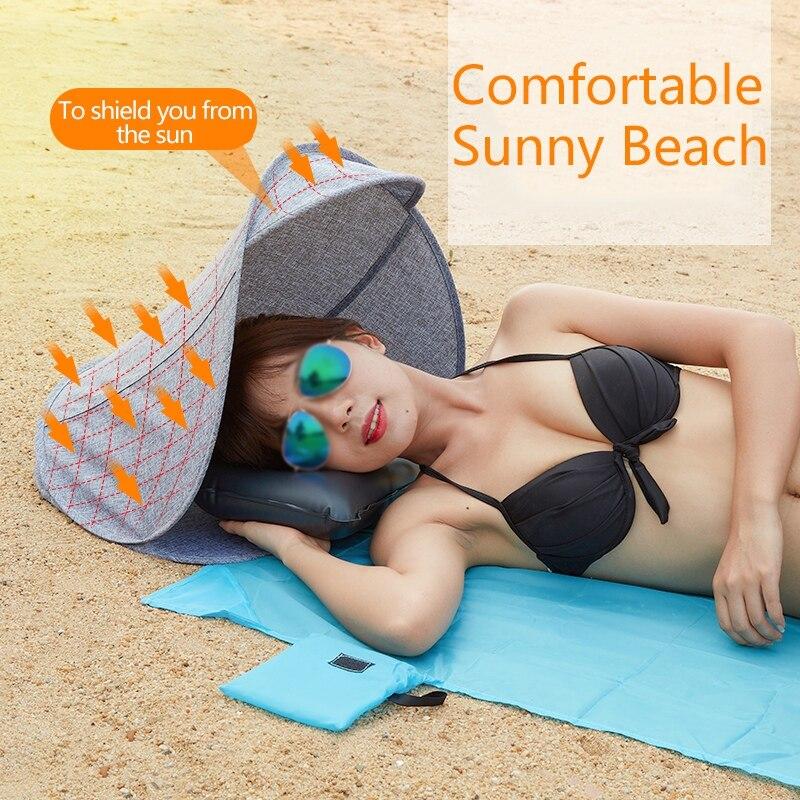 Al aire libre toldo de Camping paraguas livianos pequeño toldo tienda Personal plegable protección UV sol refugio con cojín de aire nuevo