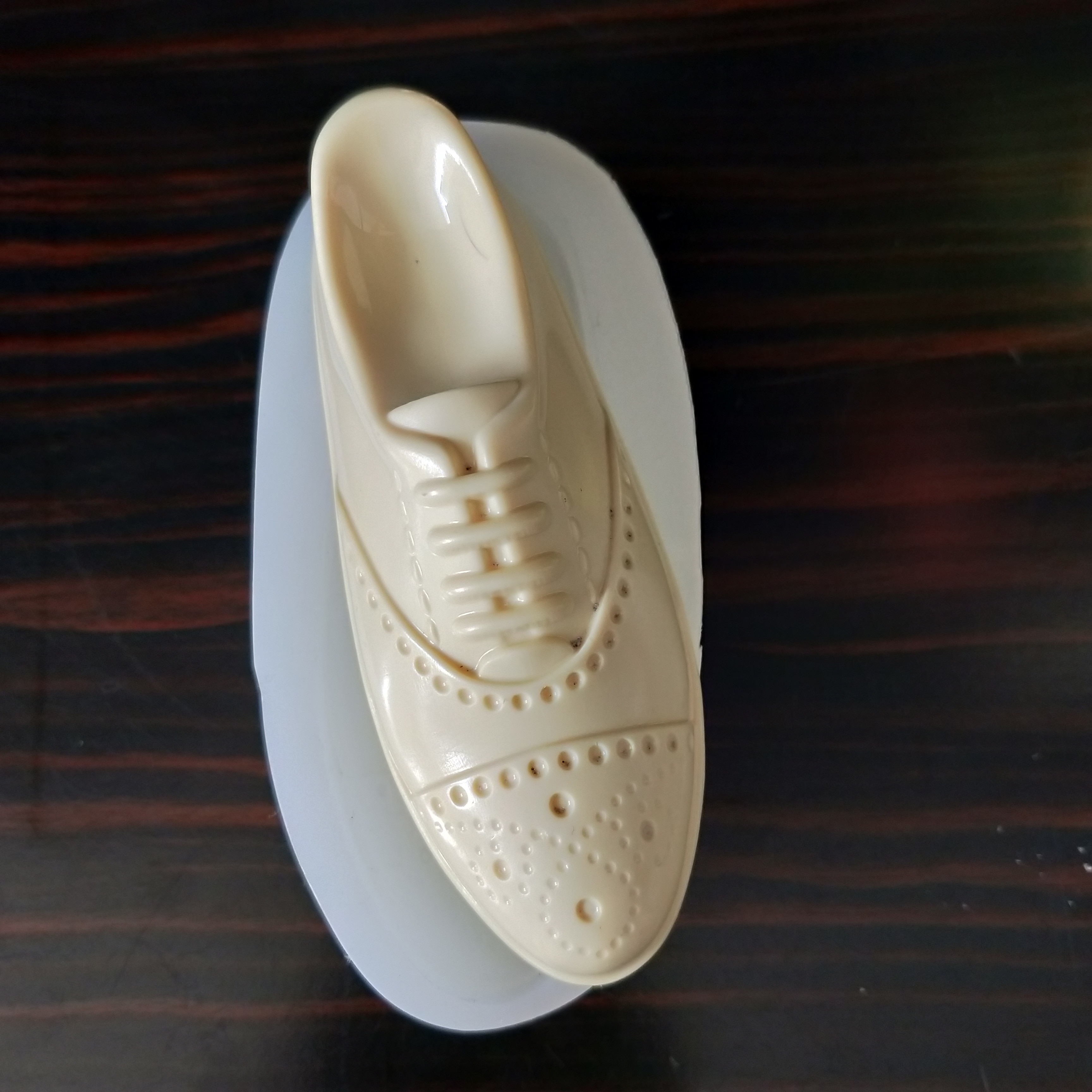 Molde de silicona QT0218 PRZY, moldes de jabón con forma de zapato de cuero, moldes para velas de Chocolate y yeso, molde de Fondant para zapatos, resina de arcilla, goma de silicona