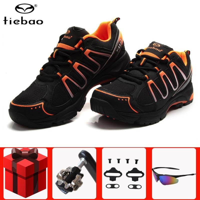 Tiebao, calzado deportivo para ciclismo de montaña, profesional, para hombre, zapatillas deportivas con cierre automático, calzado deportivo para carreras al aire libre
