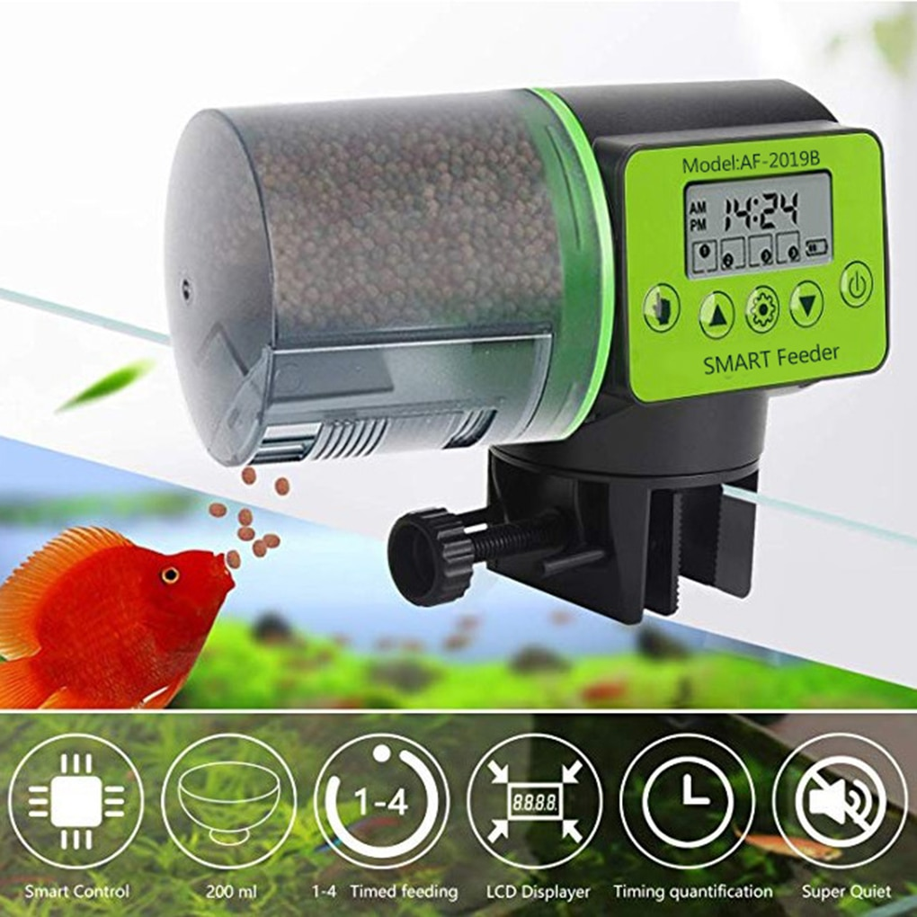 Cool Automatic Fish Feeder Digital Fish Tank Aquarium Electrical Plastic Timer Feeder Food Feeding Dispenser Tool Fish Feeder