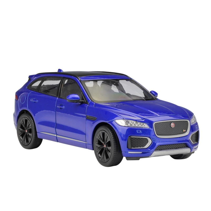 welly 24070 велли модель машины 1 24 jaguar f pace WELLY 1:24 JAGUAR F-Pace Alloy Luxury Vehicle Diecast Pull Back Car Model Goods Toy Collection
