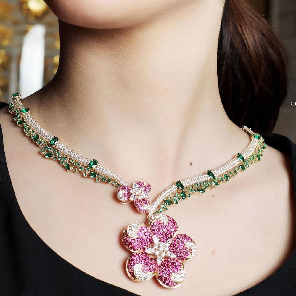 GODKI New Trendy 4PCS Full Micro CZ Luxury African Jewelry Set For Women Wedding Party Zircon Crystal Indian Neckalce Earring