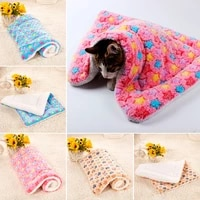 new coral cashmere pet fleece pad pet blanket bed mat for puppy dog cat sofa cushion home rug keep warm sleeping cover 3 colors