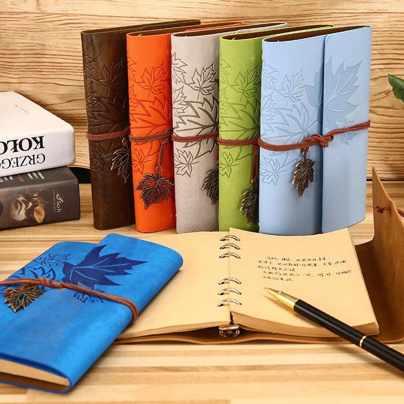 Retro Blatt A5 A6 A7 Tagebuch Notebook Agenda Faux Leder Abdeckung Filofax Notebook Für Schule Büro Koreanische Schreibwaren Reisende Geschenk