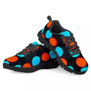 HYCOOL Fashion Kids Tennis Shoes Flat Dot Pattern Children School Running Sport Sneakers Winter Boys Girls Mesh Footwear Custom