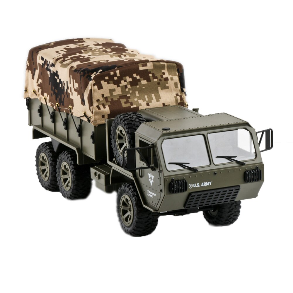 FY004A 1/16 2.4G 6WD Rc Car Proportional Control US Army Military Truck RTR Model Toys for Children Kids Gifts RC Track enlarge