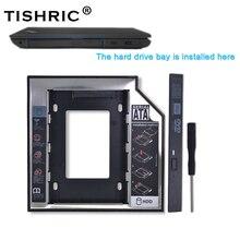 """Tishric Universal de plástico de aluminio de 12,7mm SATA 3,0 de 2,5 """"HDD Caddy adaptador DVD HDD para ordenador portátil de Cd extraño duro disco carcasa Optibay"""