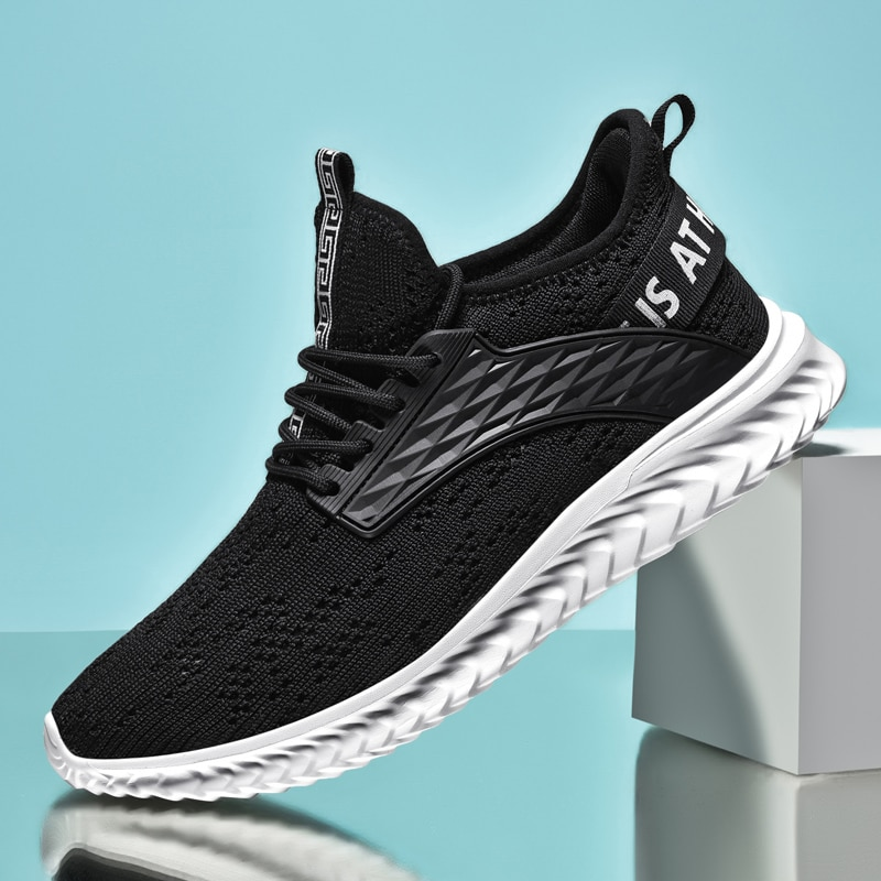 Sneakers Men Shoes Breathable Lightweight Sports Running Shoes for Man Soft Casual Shoes Zapatillas Hombre Large Size rax men running shoes lightweight 2019 new style breathable gym running shoes outdoor sports sneakers for man tourism shoes