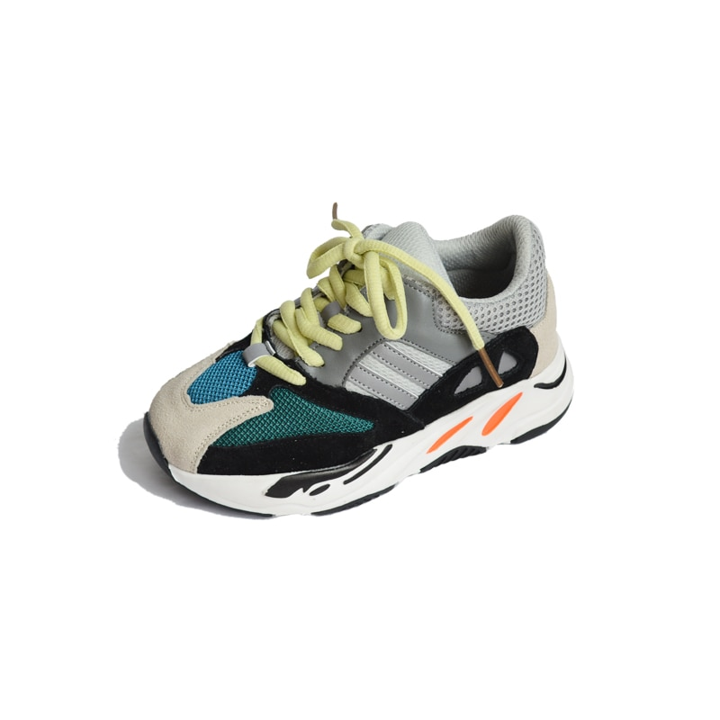 Zapatillas de malla con cordones para niños y niñas, zapatillas deportivas para la escuela para niños, zapatillas de diseño con estilo de marca informal para niño pequeño y pequeño