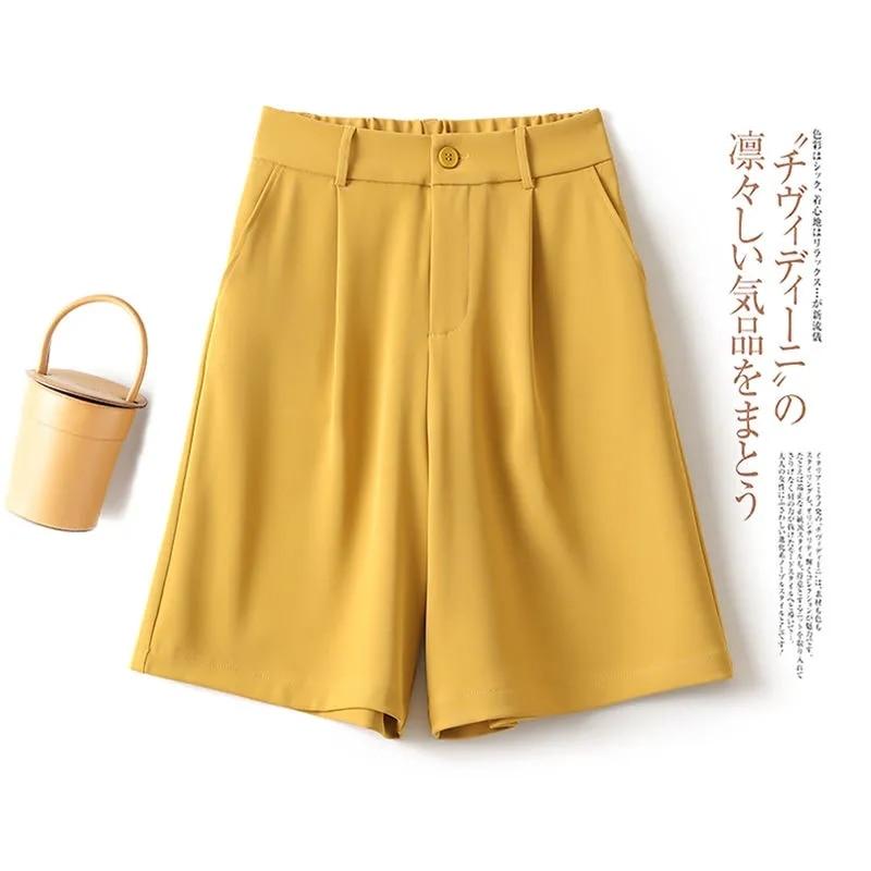 Шорты женские летние корейские новые женские прямые тонкие повседневные женские брюки большого размера пятиконечные брюки