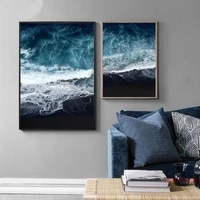 scandinavian ocean canvas landscape posters and prints wave beach wall art painting decoration pictures nordic style home decor