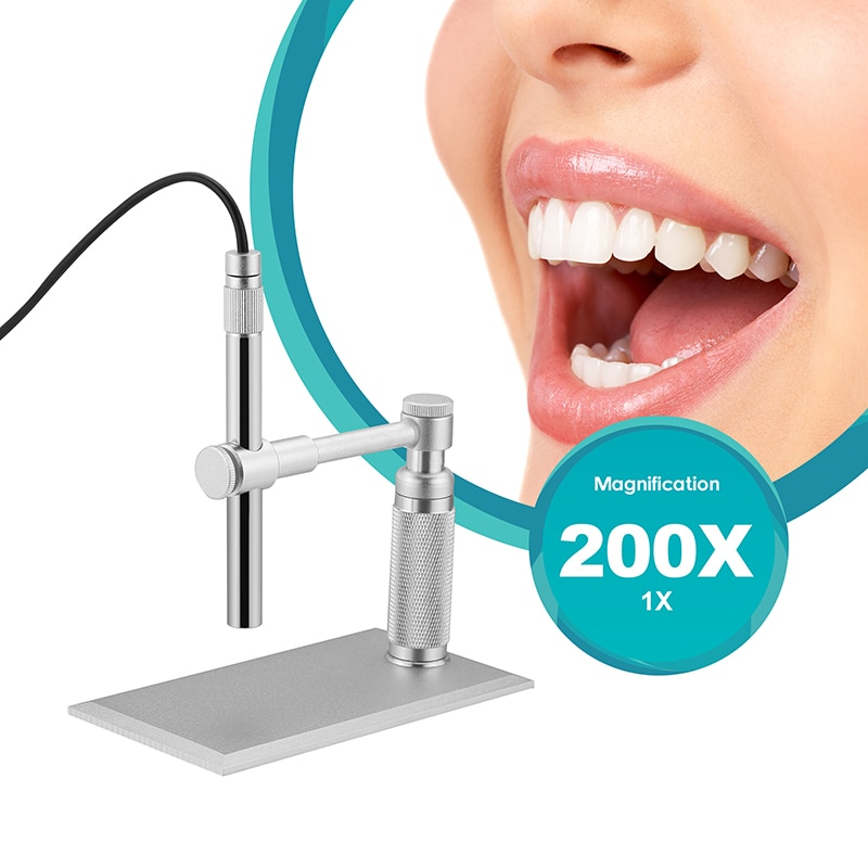 500X Pen Digital USB Microscope 2MP HD Video Camera Stand Electron  Endoscope Skin Dentisty Detector PCB Soldering Tool