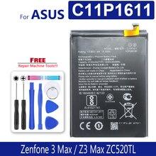4130mAh C11P1611 ASUS Zenfone 3 Max Z3 MAX ZC520TL 페가수스 3 X008 X008D Z01B Smartphone