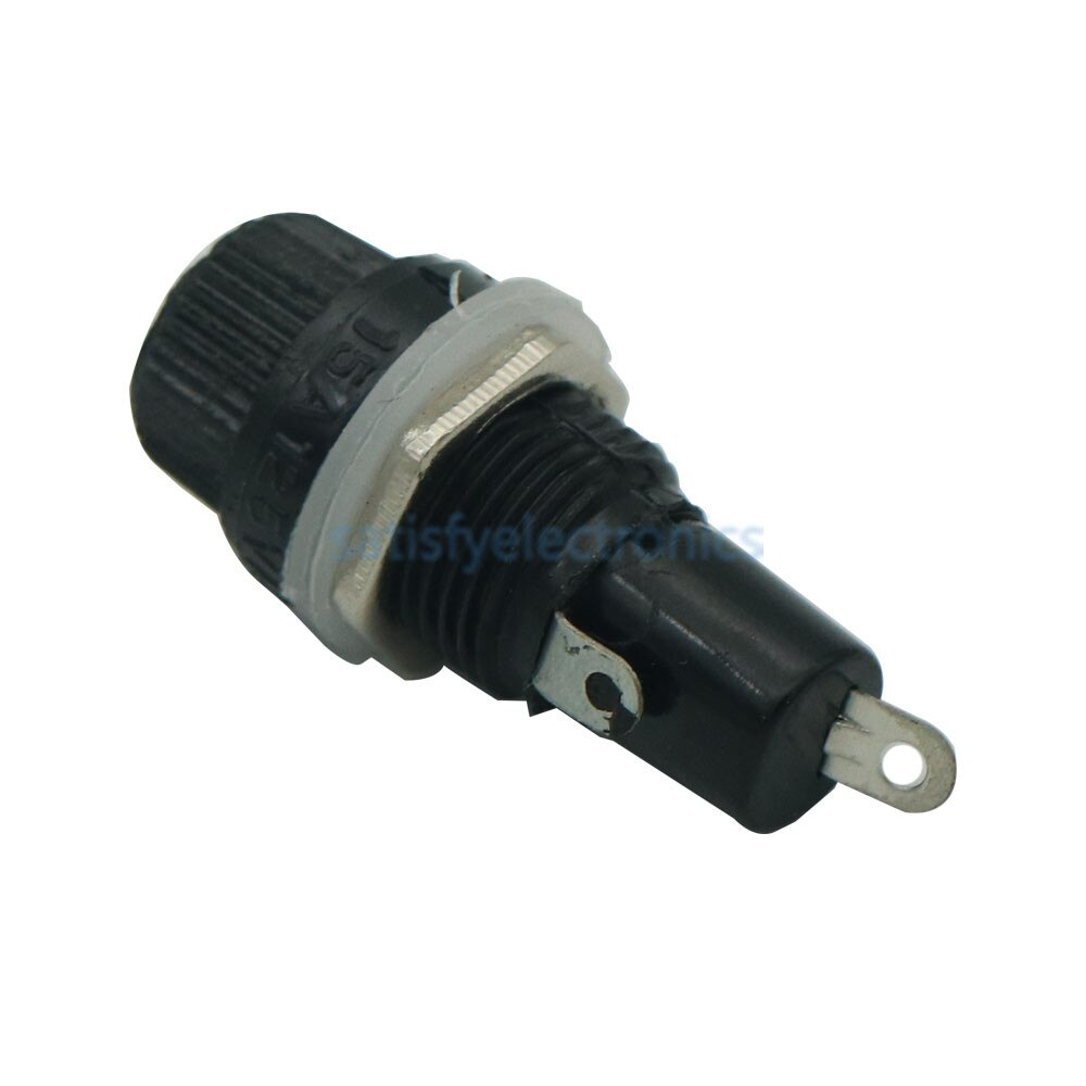 2Pcs 10A 250V 5*20 5x20mm Ceramics Glass Fuse Holder Socket Black NEW