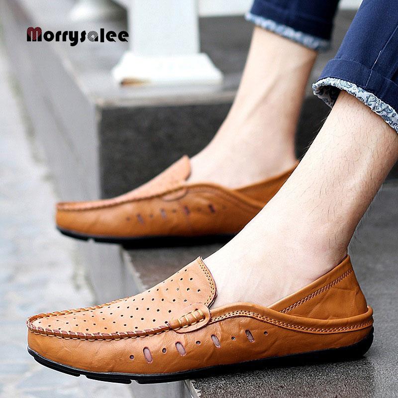 2020 New Arrival Flats Casual Shoes Men's Fashion Sneakers Korean Type Doug Shoes Tide  Casual Men's Shoe Men Sandals Hollow Out