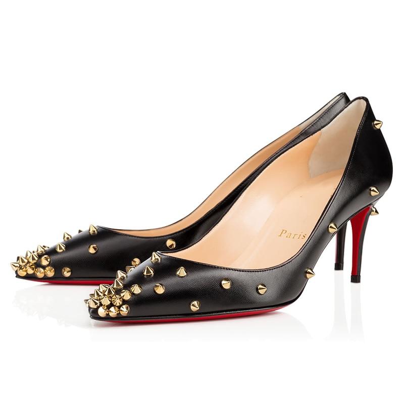 2 Color Luxury Pumps Platform Women High Heels 8 10 12cm Ladies Red Bottom Mules Clear Wedding Party