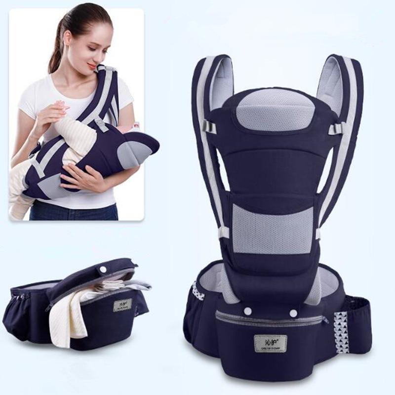 0-48M Ergonomic Baby Carrier 15 Using Way Infant Baby Hipseat Carrier Front Facing Ergonomic Kangaroo Baby Wrap Sling Travel