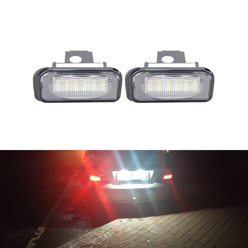 2x 18-SMD LED License Plate Lights for Mercedes Benz C-Class W203 Sedan SL-Class R230 CLK-Class W209 C209 A209 Car-Styling
