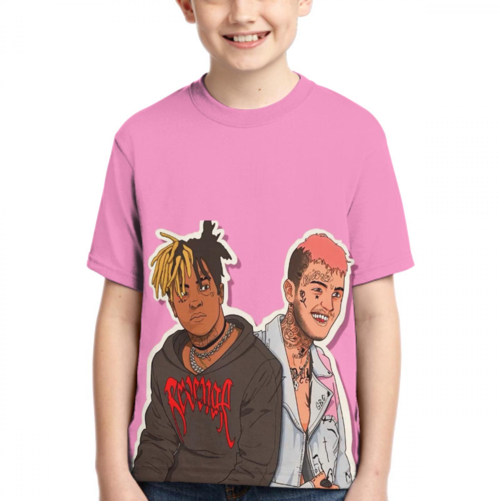 Camisa dos meninos/meninas t da forma da camisa dos meninos/meninas do telefone do peep do lil