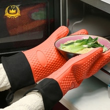 1 pieza de grado alimenticio resistente al calor de silicona cocina de barbacoa guante de cocina guante para parrilla guante de horno hornear guante YDH