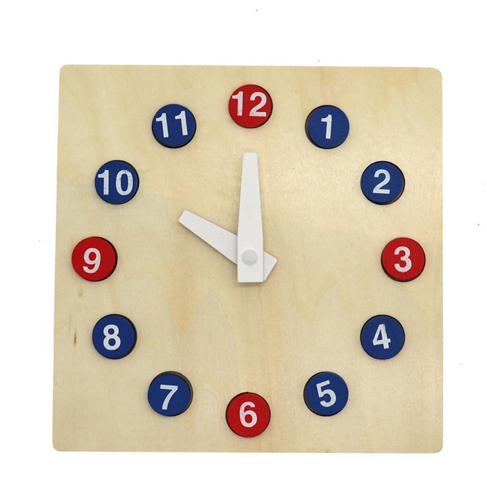 Rompecabezas de madera, reloj de aprendizaje, actividades de enseñanza jardín de infantes, reloj de tiempo de ayuda, juguete para niños, Chico, regalo para niños