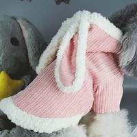 xs xxl winter dog clothing warm pet down cute rabbit dog coat parkas yorkshire chihuahua poodle chenery dog cat coat petclothing
