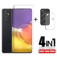4 in 1 for samsung galaxy quantum 2 glass for samsung quantum 2 film hd screen protector for samsung quantum 2 camera lens film