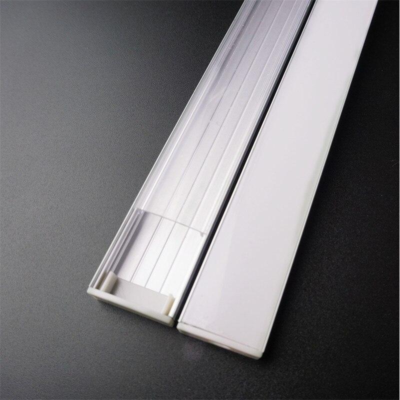 20 дюймов 50 см плоский U Тип 10 мм высокий двухрядный светодиодный алюминиевый профиль, 20 мм 5 в 12 В 24 В полоса канал, широкий бар светильник корпус