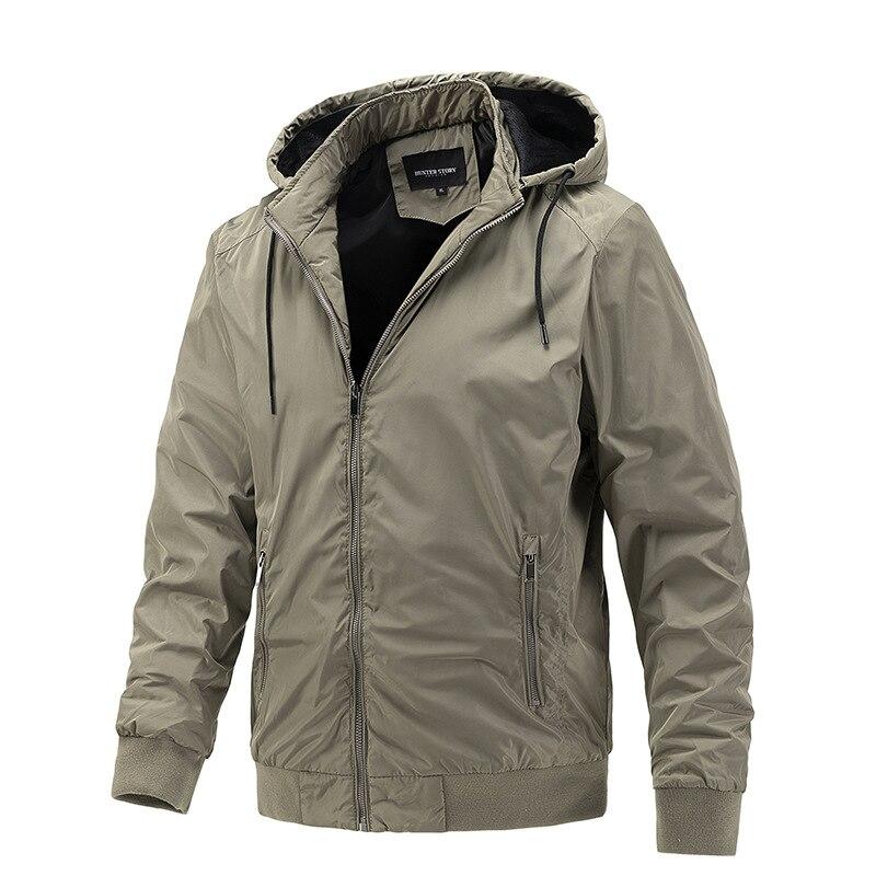 Модная одежда, трендовая куртка со съемным капюшоном, Повседневная Спортивная тонкая хлопковая куртка, мужские зимние куртки-бомберы, толс...