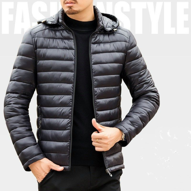 Men's cotton padded jacket short light down cotton padded jacket large size cotton padded winter coat
