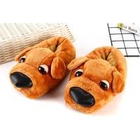 ladies crazzy indoor slippers girls ins dog cartoon home shoes for woman keep warm plush slippers 2021 new