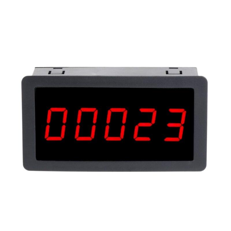 Medidor para Cima Vermelho Dígitos 0.56 – Led Painel Contador Mais Totalizador 0-99999 dc 12-24v 5