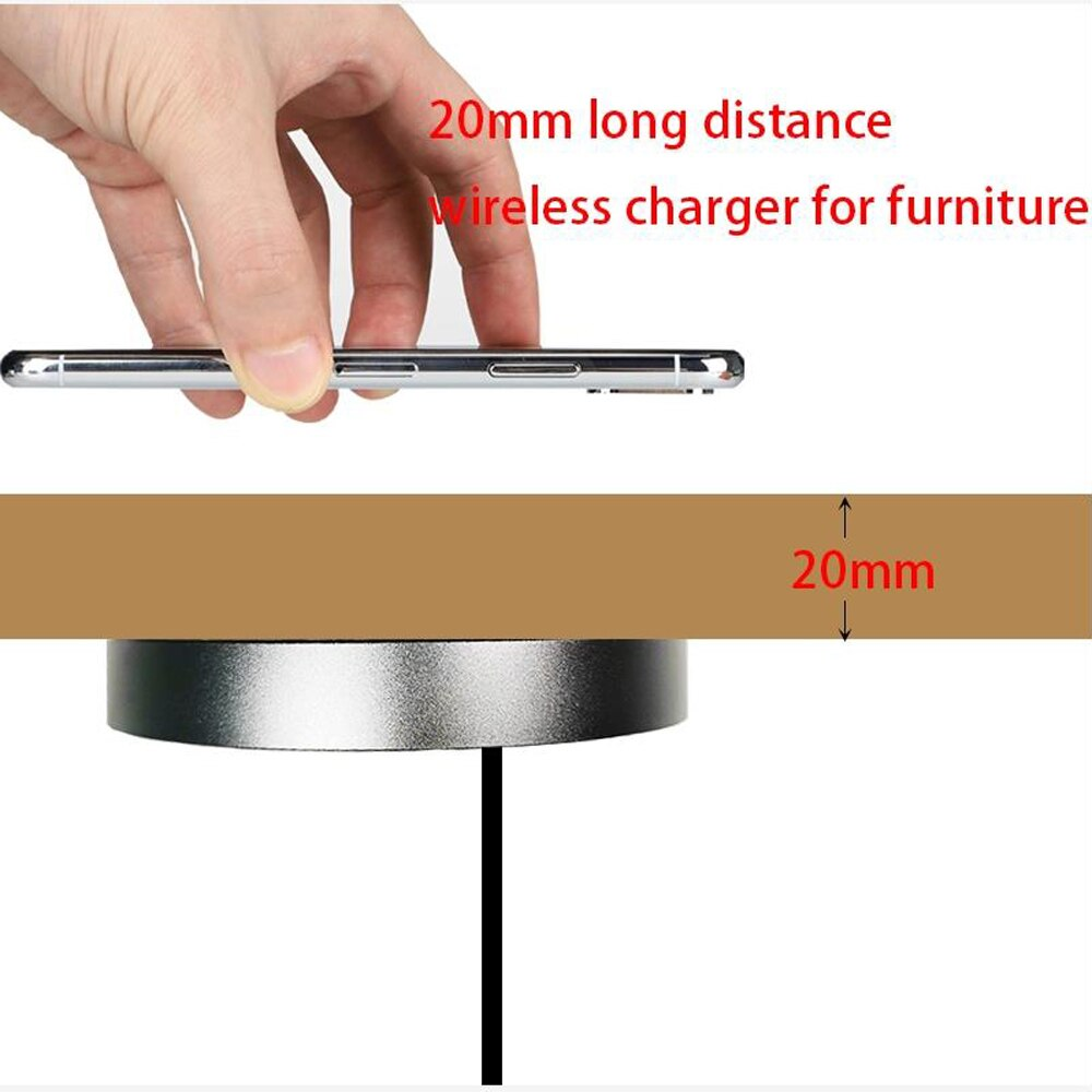 10w mesa de carregamento sem fio carregamento sem fio embutido qi carregador para escritório mesa barra do hotel