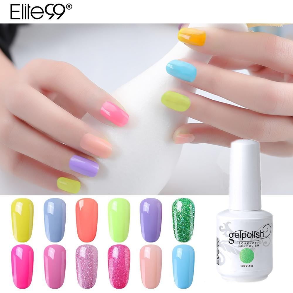 Elite99 15ml Glitter Pure Series Gel Nail Polish Soak Off Semi permanent Enamel Gel Lacquer Hybrid Gel Varnish Nail Art Manicure