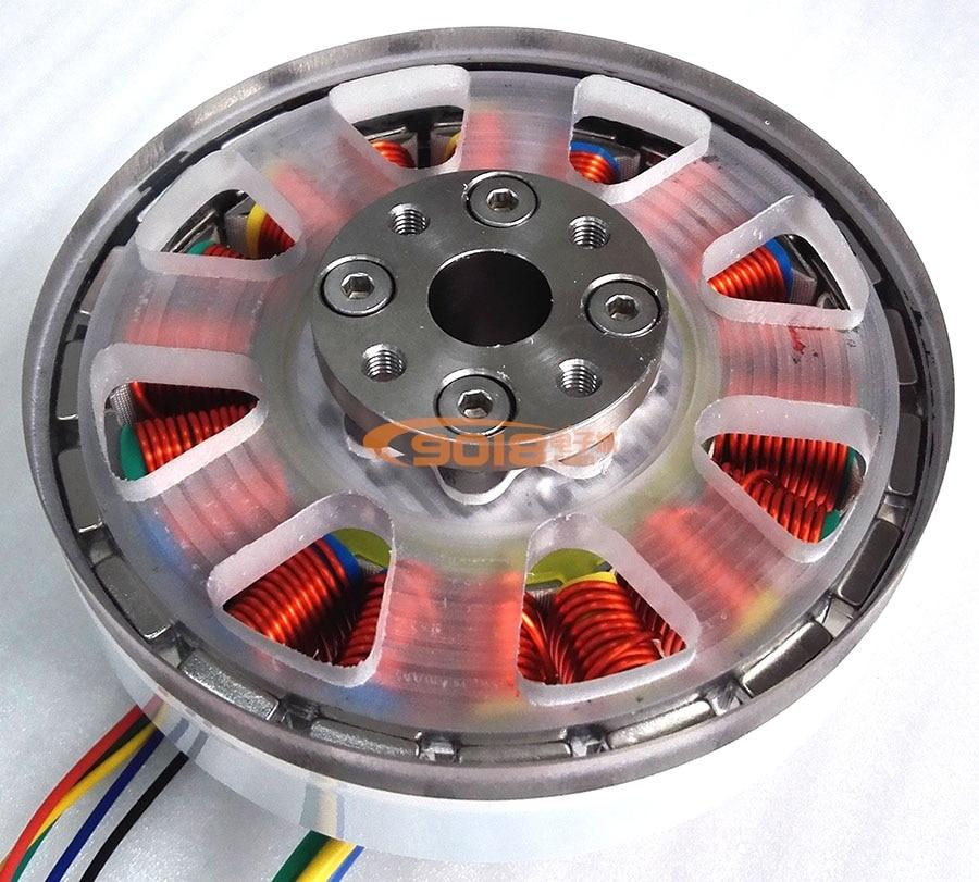 200W Disc Bürstenlosen DC Motor Flache Direct Drive Welle Drehmoment Motor Alle mit Halle