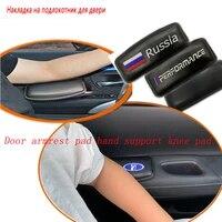 leather car driver door armrest knee pad pillow for skoda octavia a5 a7 kodiaq superb 2 rapid fabia 1 porsche 911 cayenne macan