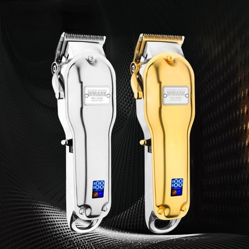 WMARK NG-2020B Electric Hair Clipper USB Rechargeable Hair Clipper Professional Hair Clipper With LCD Display Beard Hair Trimmer enlarge
