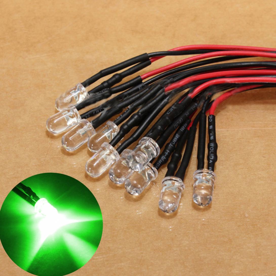 10 stücke 12V Hohe-Qualität LED Licht Birne 10 x Pre Wired 5mm Helle Diode Lampe 20cm/7,874 inch Prewired mit 25 Grad
