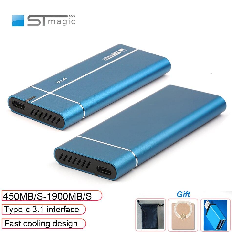 Stmagic Spt32 التبريد السريع المعادن المحمولة ssd 128GB 285GB 512GB hd externo 1 تيرا بايت قرص صلب خارجي لأجهزة الكمبيوتر المحمول الهاتف الذكي