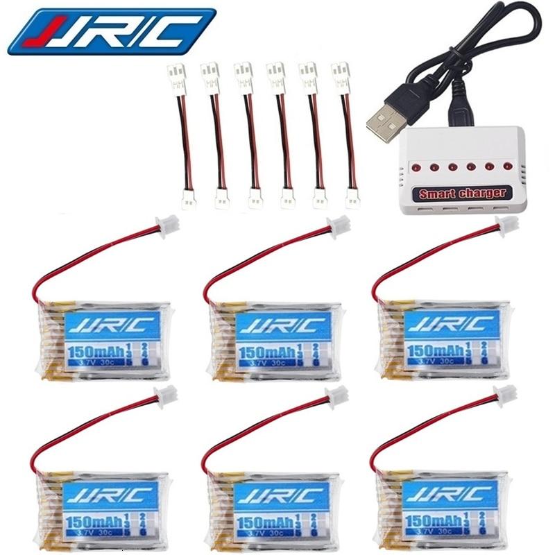 Bateria original 3.7v 150 mah de jjrc h20 para jjrc h20 syma s8 m67 u839 rc quadcopter parte 3.7v lipo bateria + 6 furos 3.7v carregador