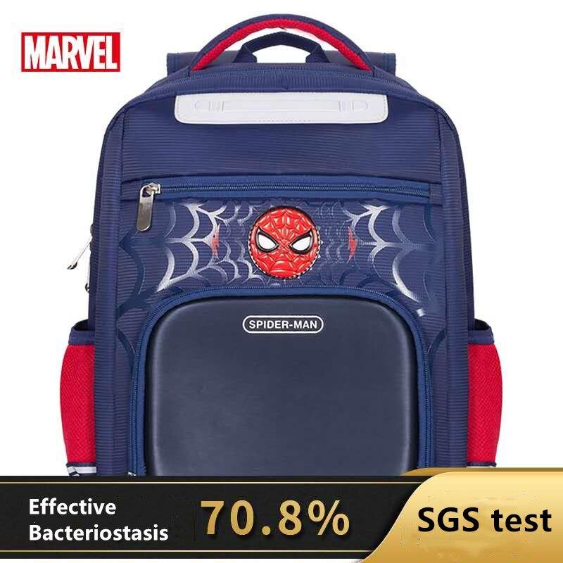 Школьный ранец Disney для мальчиков, вместительный школьный рюкзак с 3D рисунком Капитана Америки, паука, Железного человека, 2020