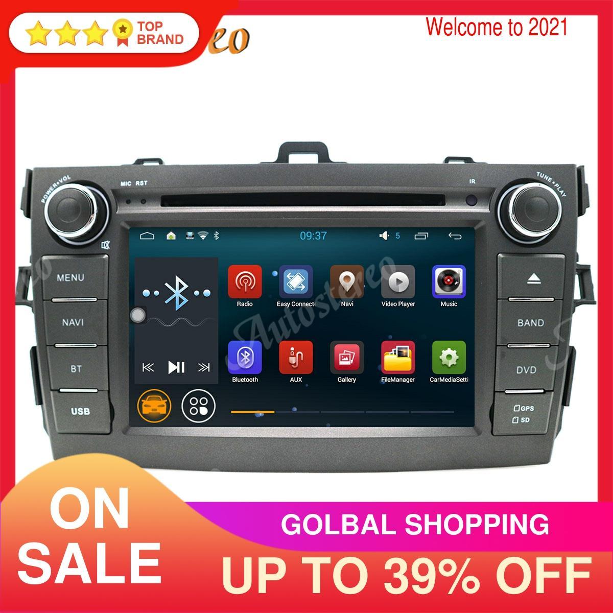 Система Android автомобильный gps-навигатор стерео dvd-плеер для Toyota Corolla 2007-2013 мультимедийный плеер радио магнитофон головное устройство