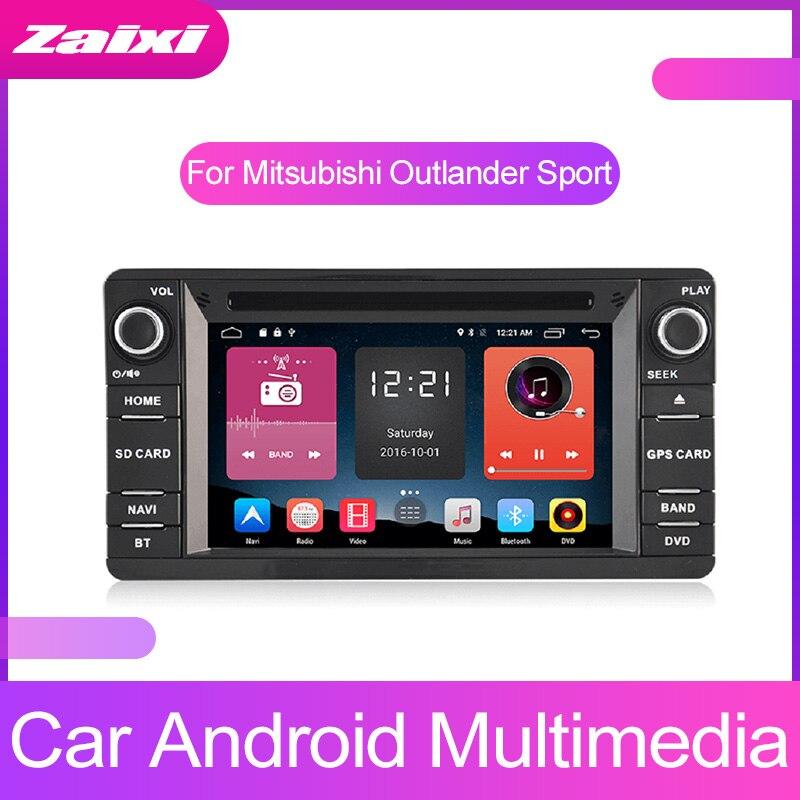 ZaiXi HD Android Car reproductor Multimedia 2 Din WIFI navegación GPS Autoradio para Mitsubishi Outlander Sport 2010 ~ 2018 GPS Radio