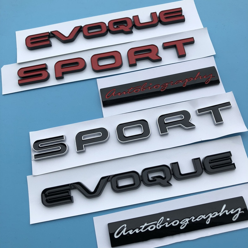Esporte evoque letras emblema barra logotipo para land range rover sv autobiografia edição final barra crachá estilo do carro tronco adesivo
