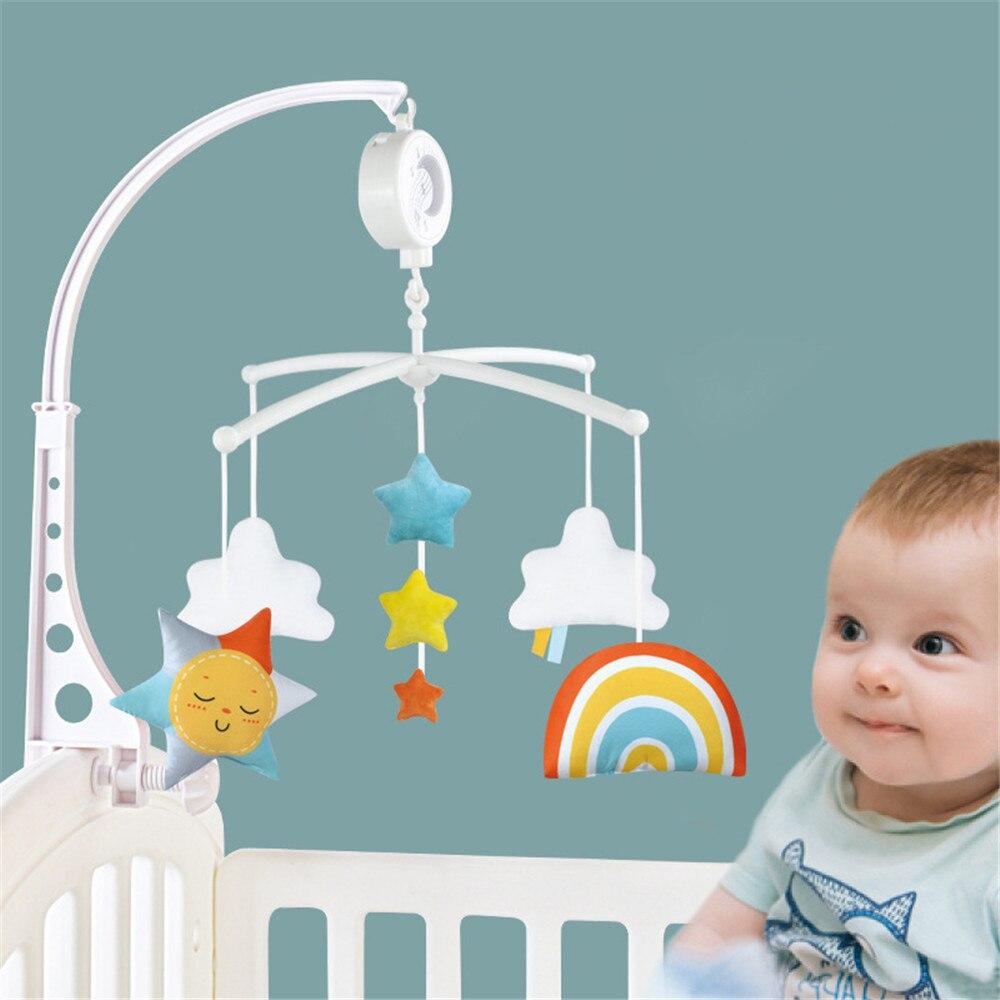 Мобиль с погремушками для детской кроватки, карусель для детской кроватки, детские игрушки для новорожденных 0-12 месяцев