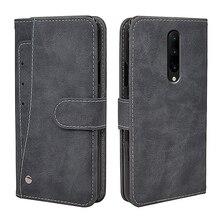 Luxury Vintage Case For OnePlus 1+ 7T 7 6 5 3 2 1 6T 5T 3T Pro Case Flip Leather Soft Silicon Wallet