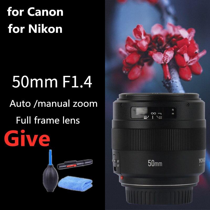 YONGNUO YN50mm 50mm F1.4 objetivo fijo estándar, lente de enfoque automático de gran apertura para cámara Canon EOS 6D 70D 5D2D2 5D3 600D 60D DSLR